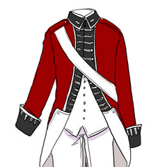 England's Revolutionary War uniform.