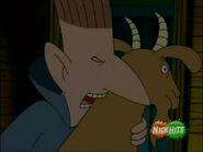 Bitin' the goat