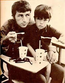 Richard Dawson with his son Gary