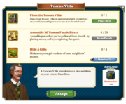 Quest Tuscan Villa-Tasks