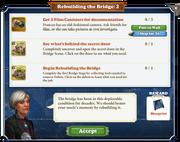 Quest Rebuilding the Bridge 2-Tasks
