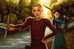 Joffrey atacado por Arya by Felicia Cano©.jpg