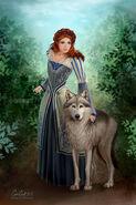 Sansa y Dama por Carrie Best©