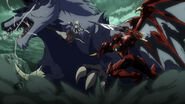 Fenrir being attacked by Issei and Koneko