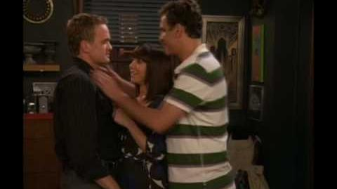 How I Met Your Mother - Gay Kiss (The Third Wheel) HQ