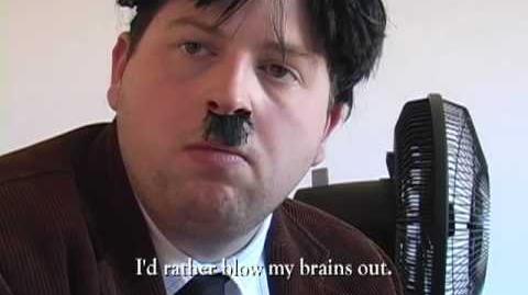 """Reenactment 56 Downfall (aka the """"Hitler Bunker"""" scene)"""
