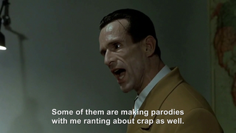 Goebbels rants about Downfall Parodies
