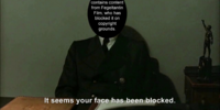Hitler is informed his face has been blocked