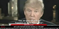 Hitler interviews Donald Trump