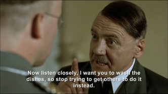 Hitler wants Himmler to wash the dishes