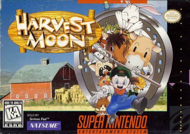 Image result for Harvest Moon SNES box