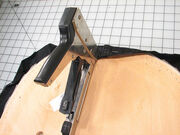 Seat recovery - stapling on the fabric