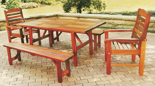 Cedar lawn furniture plans