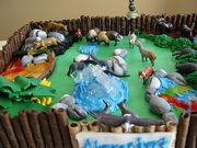 Detail on zoo cake