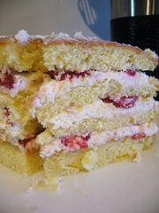 4 Tier Strawberry Cream Cake