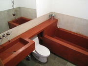 Concrete Sink and Tub in Bathroom -2