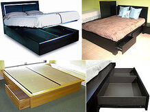Storage beds collage 1