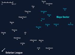 Maya Sector map