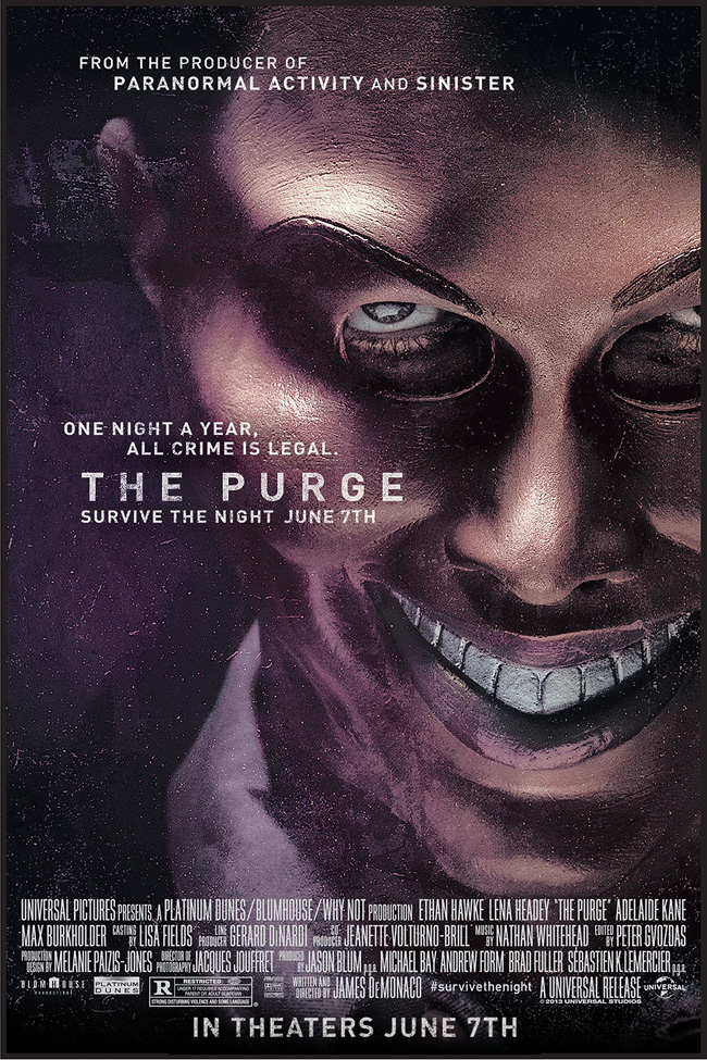 Image result for The Purge 1 poster