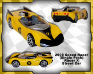 2008 Speed Racer (Single Pack) Racer X Street Car