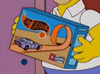 Hot Wheels homer simpson playset