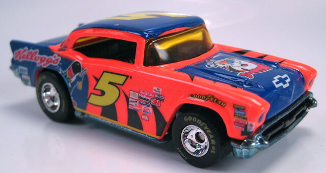 File:57 Chevy nascar kelloggs chrome wheels real riders.JPG