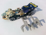 Musha Motors Race Car with claw hooks attached to the side
