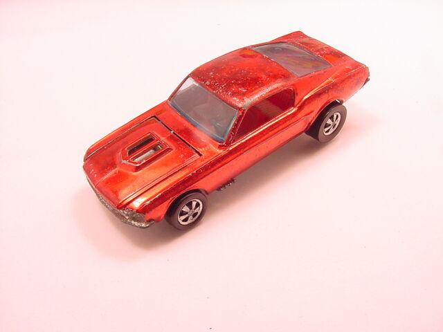 File:68 Custom Mustang HK red Open Hood Flyin Colors.jpg