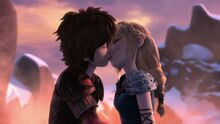 Hiccup and Astrid kissing Shell Fire, Part 2