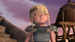Astrid after hearing Hiccup ask her a question
