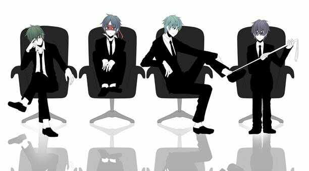 Anime Sitting On Chair Happy Tree Frie...