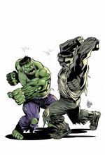 Grey hulk vs hulk