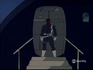 Gabe arrives on the scene