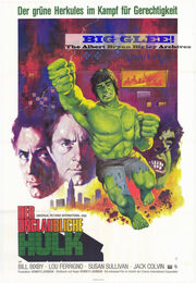 Incredible Hulk German movie poster 1977