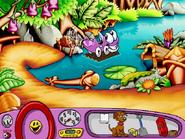 Putt-Putt Riding on the Raft