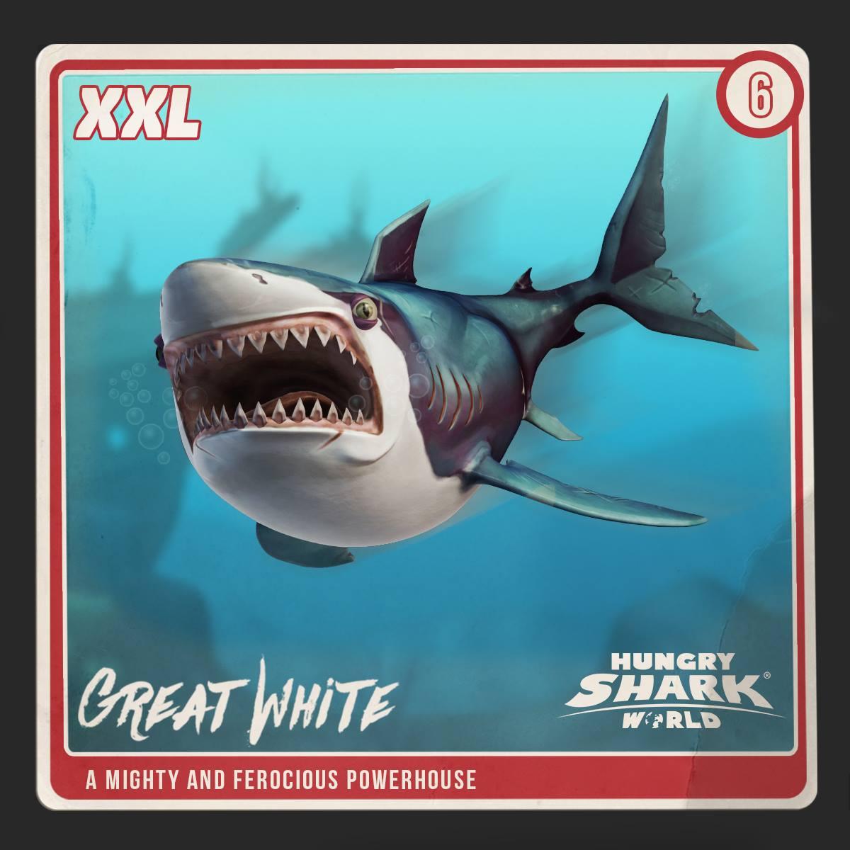 Great White Shark World Hungry Shark Wiki Fandom