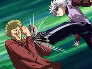 Killua kicking Sub