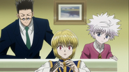Kurapika shocked by Killua Leorio