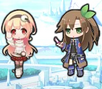 Compa and IF chibi