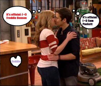 Seddie Kiss!