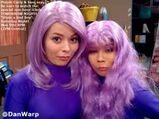 Carly and Sam purple hair