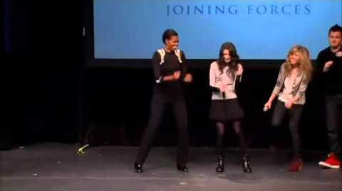 Random dancing with Michelle Obama
