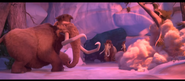 Ice Age Collision Course Manny escaping Meteror Shower