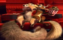 Scrat and Scratte at the movies