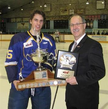 File:Brendan O'Donnell receives Vince Leah Memorial Trophy.jpg