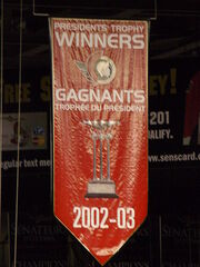 Ottawa Senators Presidents Trophy Banner