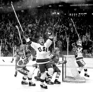 Miracle on Ice - Eruzione goal celebration