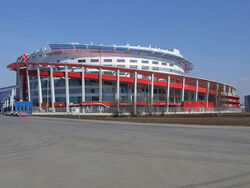 Ice palace in Moscow
