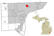 Highland Park, Michigan Map