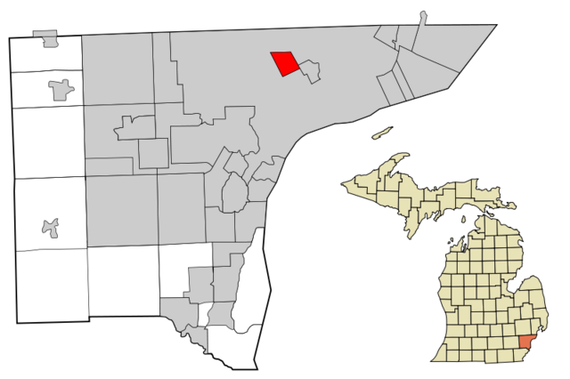 File:Highland Park, Michigan Map.png
